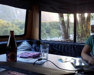Oft ist man mit dem Campervan mitten in der Natur