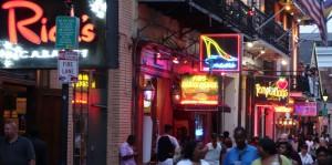 Getümmel auf der Bourbon Street