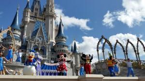 Mäuse- und Enten-Show am Cinderella-Schloss