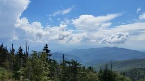 Blick auf die wunderbaren Great Smoky Mountains